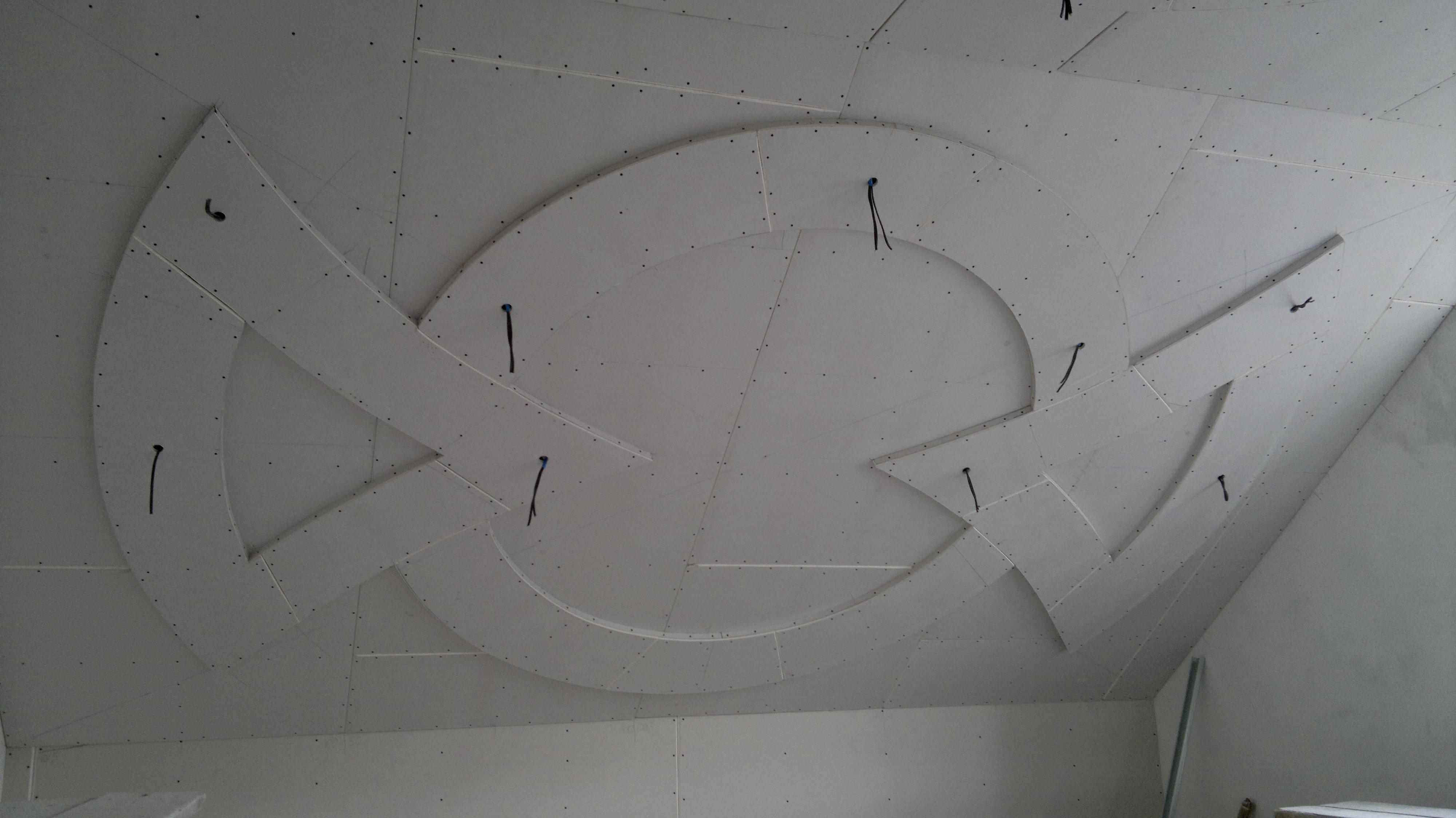 Как сделать фигуры из гипсокартона на стене
